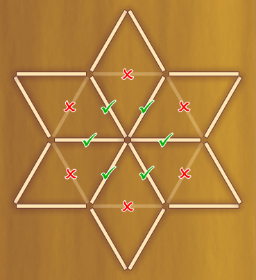 Розгадувати головоломки з сірниками